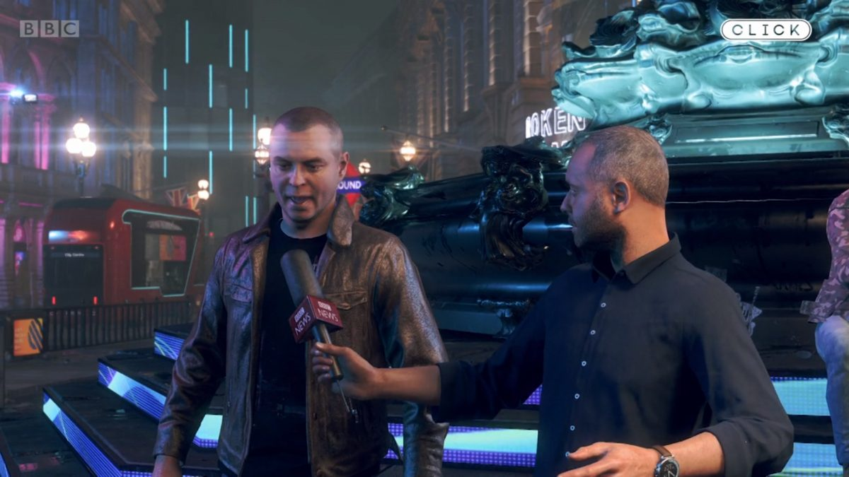 BBC, Watch Dogs Legion'da dünyanın ilk oyun içi röportajını gerçekleştirdi