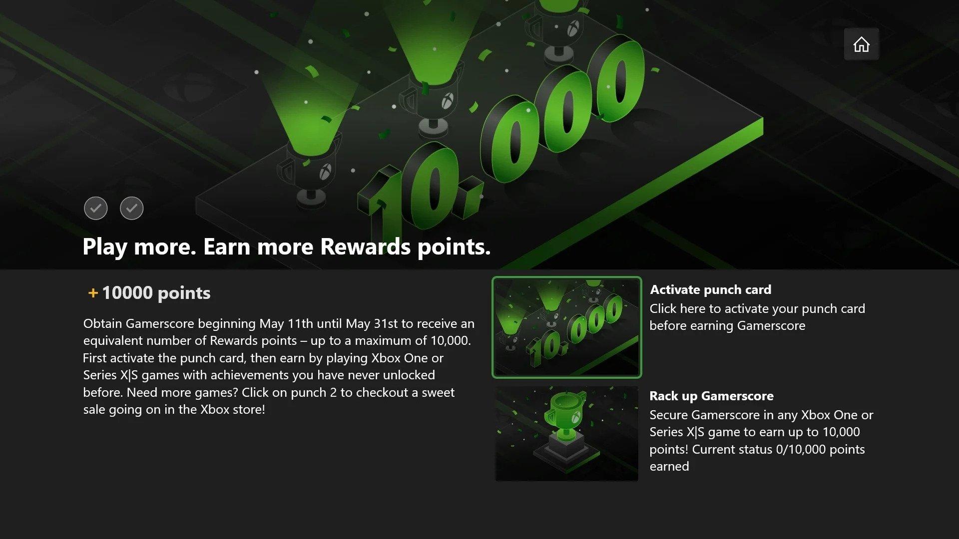 Xbox Gamerscore-oyunpat